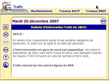 RER B grève Noel